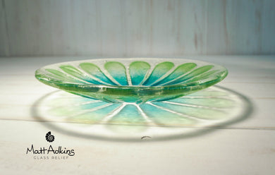 flower daisy glass bowl