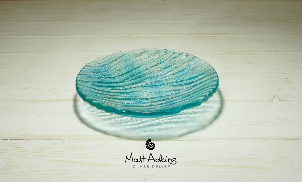 Small Seabed Bowl - Turquoise Blue - 20cm(8