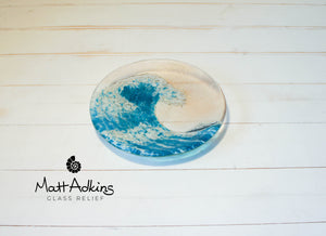 "Small Wave Blue Bowl - 20cm(8"")"