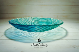 "Seabed Bowl - Blue Turquoise - 29cm(11 1/2"")"