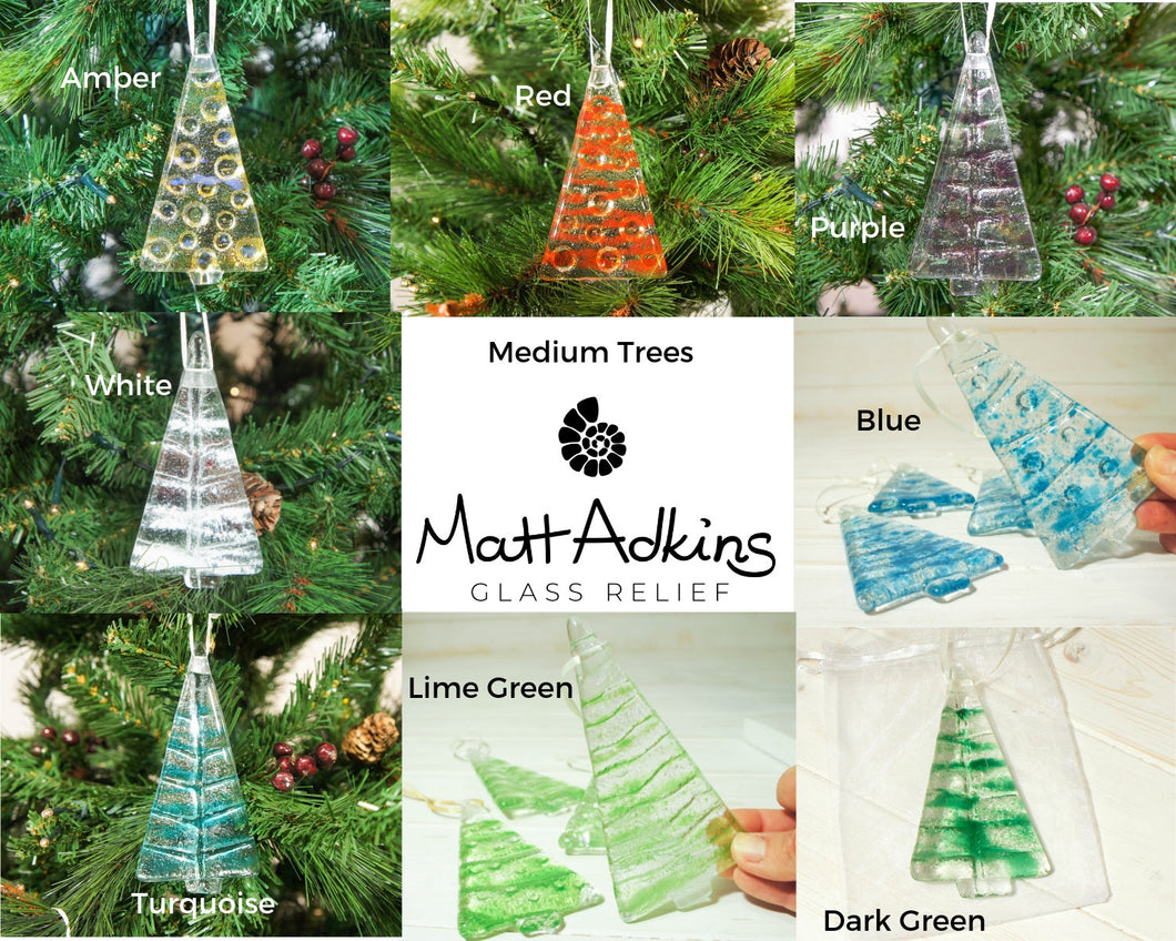 1 to 6 Medium Glass Trees - Hanging - 12cm/3 3/4