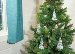 1 to 6 Medium Glass Trees - Hanging - 12cm/3 3/4""