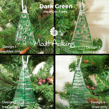 Load image into Gallery viewer, 1 to 6 Medium Dark Green Trees - Hanging - 12cm/3 3/4""