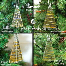Load image into Gallery viewer, 1 to 6 Medium Amber Trees - Hanging - 12cm/3 3/4""