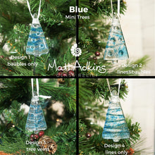 Load image into Gallery viewer, blue seaglass christmas tree decorations