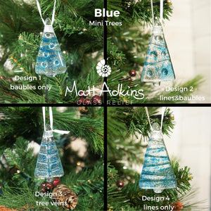 blue seaglass christmas tree decorations