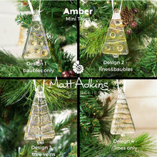 Load image into Gallery viewer, sea glass christmas tree gold