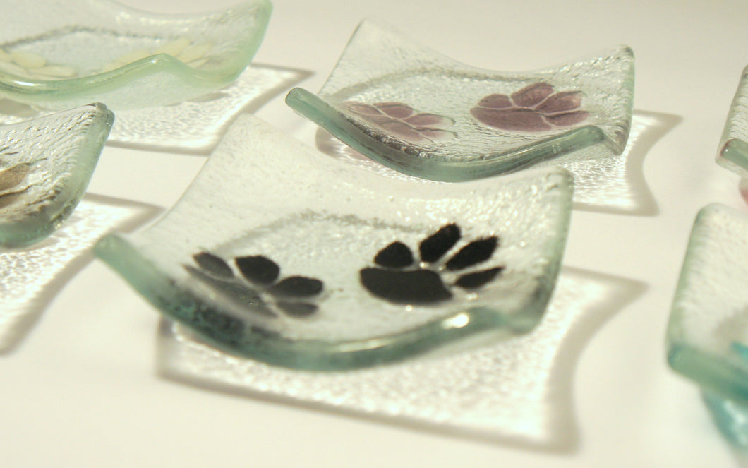 Paw Print Dish - Choose your colour - 10cm(4