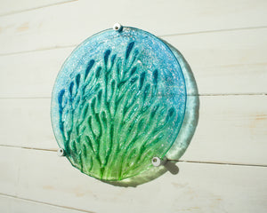 "Coral Wall Panel - Turquoise Blue Green - 29cm(10 1/2"") with fixings"