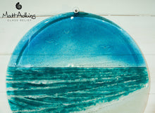 "Load image into Gallery viewer, Beach Wall Panel - Large Round - Turquoise - 40cm(16"") with fixings"