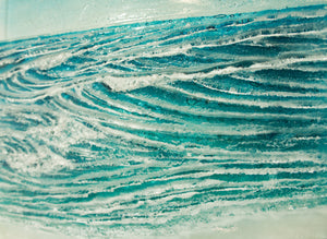 "Coastal Wave Panel Sun - Large - 40x40cm (16""x16"") with fixings"