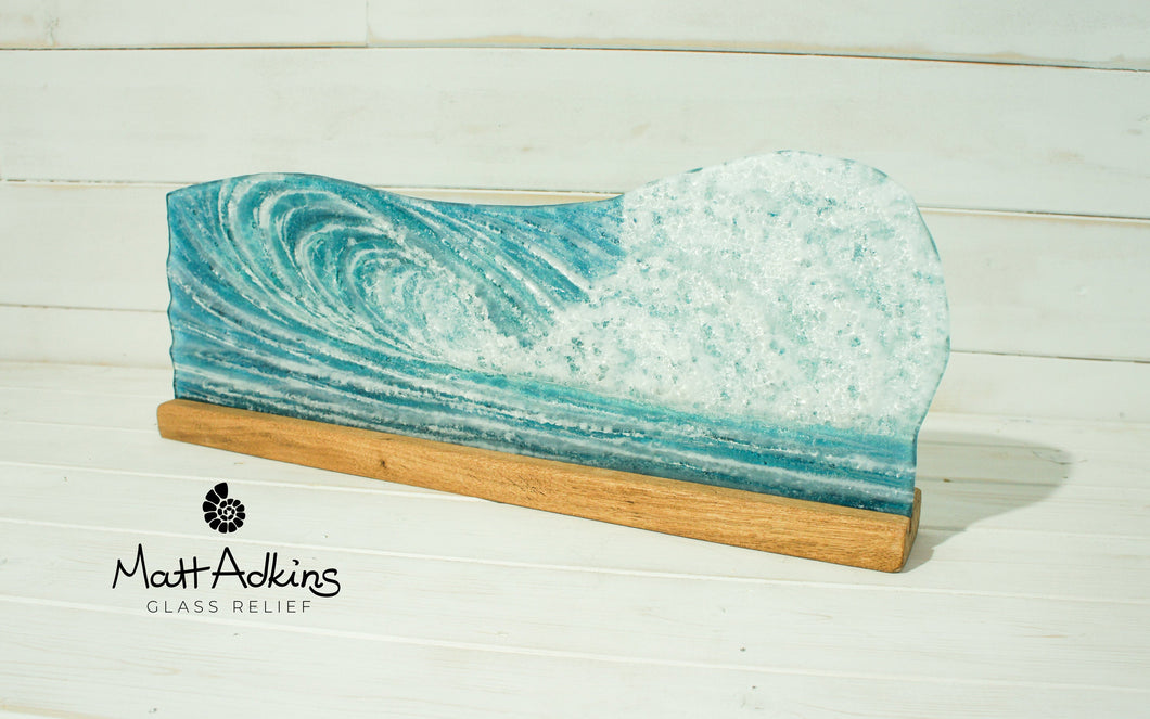 Surfers' Wave Panel - Freestanding - 52x19cm(20x7 1/2