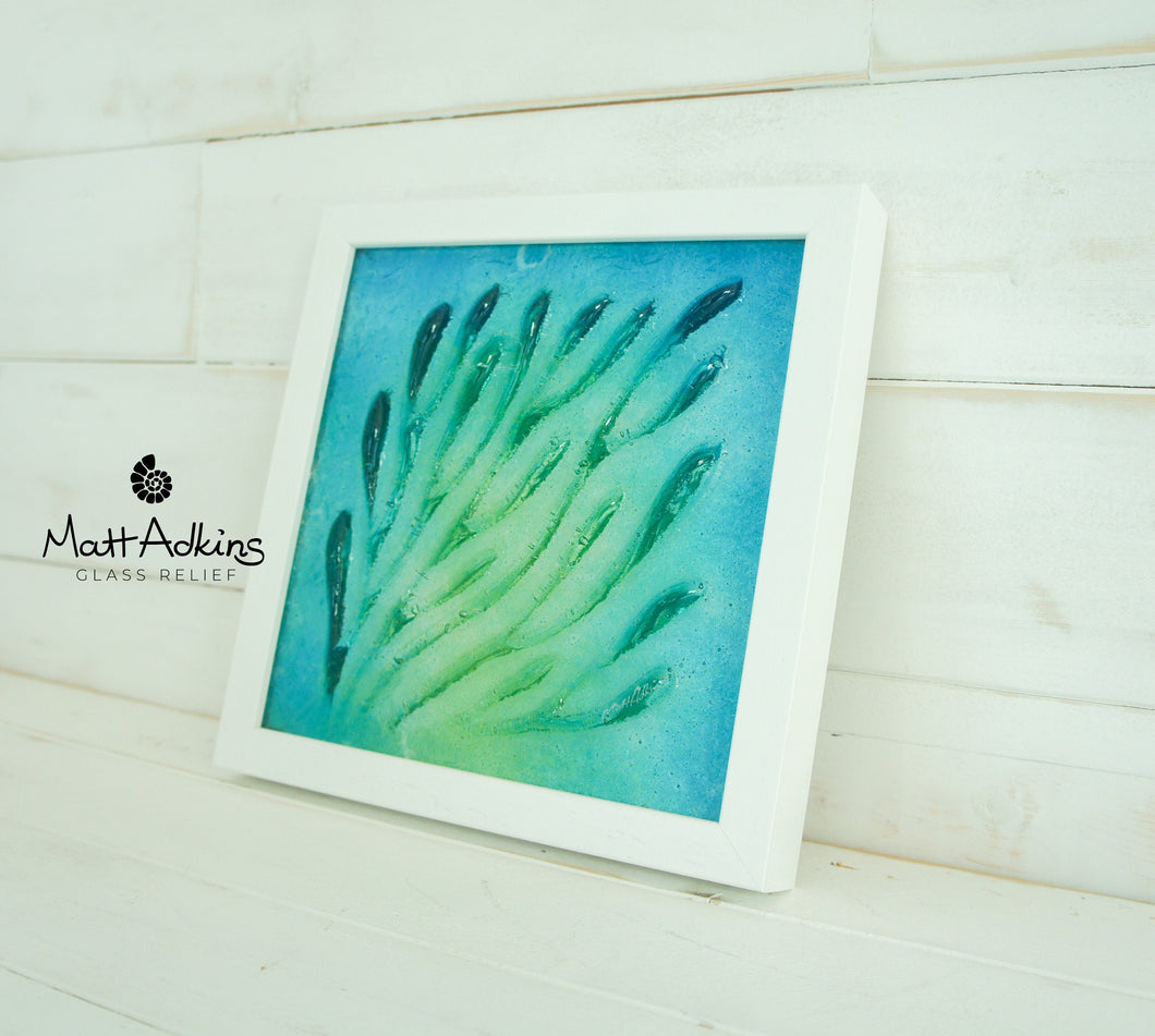 Coral Frame - Small - Green Turquoise Blue - 25x25cm(10