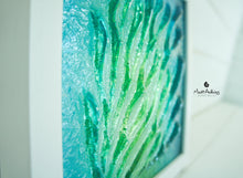 "Load image into Gallery viewer, Coral Frame - Small - Green Turquoise Blue - 25x25cm(10"")"