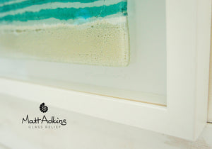 "Beach Frame - Panoramic - Turquoise - 60x20cm(23 1/2x8"")"