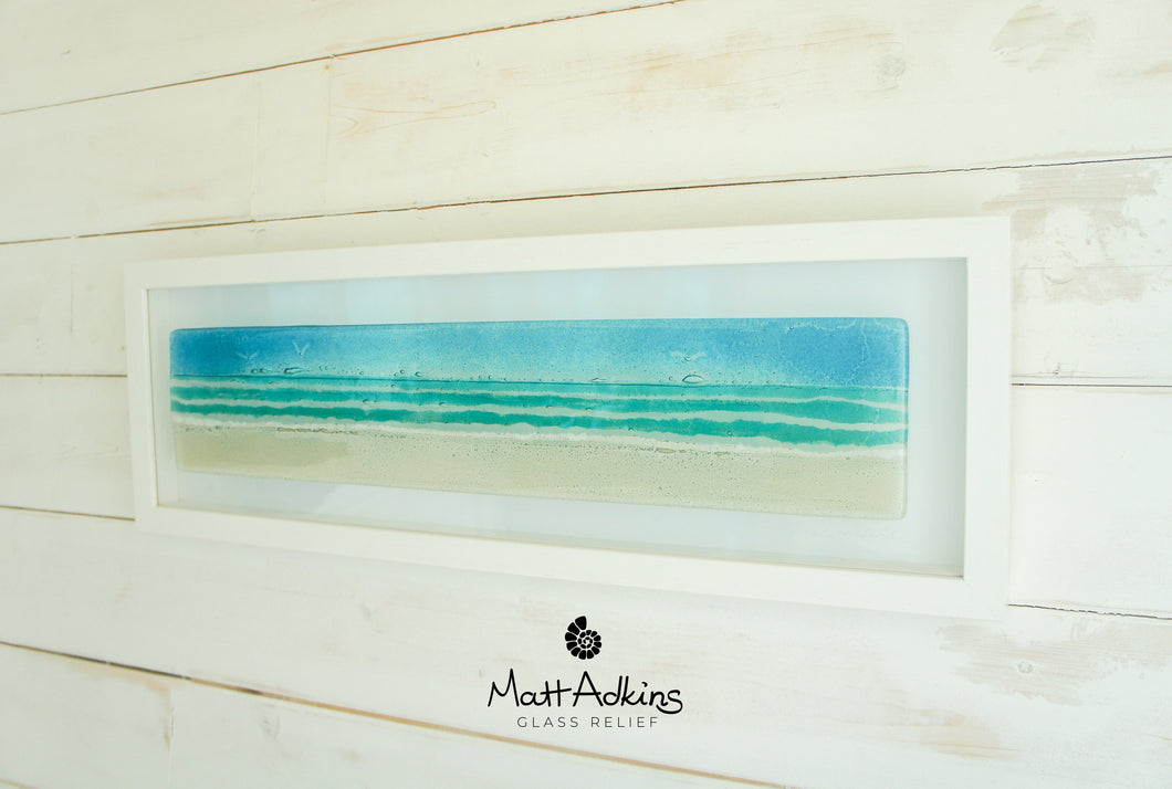 Beach Frame - Panoramic - Turquoise - 60x20cm(23 1/2x8