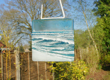 "Load image into Gallery viewer, Wave Suncatcher Small - Model 1 D1 - Hanging - 12cm(5"")"