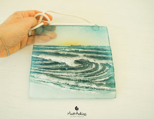 "Rolling Wave Suncatcher Sun - Model 2 D2 - Hanging - 15cm(6"")"