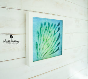 "Coral Frame - Small - Green Turquoise Blue - 25x25cm(10"")"