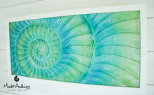 "Load image into Gallery viewer, Ammonite Frame - Large Landscape - Swirl Turquoise Blue Green - 60x30cm(23x12"")"