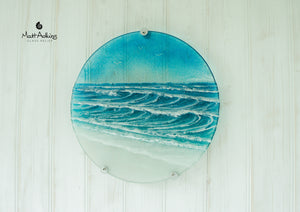 "Wave Panel - Round - 29cm(11.5"") with fixings"
