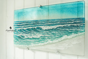 "Wave Wall Panel - Model 5 - 44cmx26cm(17x10"") with fixings"