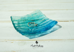 "Seabed Dish - Blue Turquoise - 10cm(4"")"