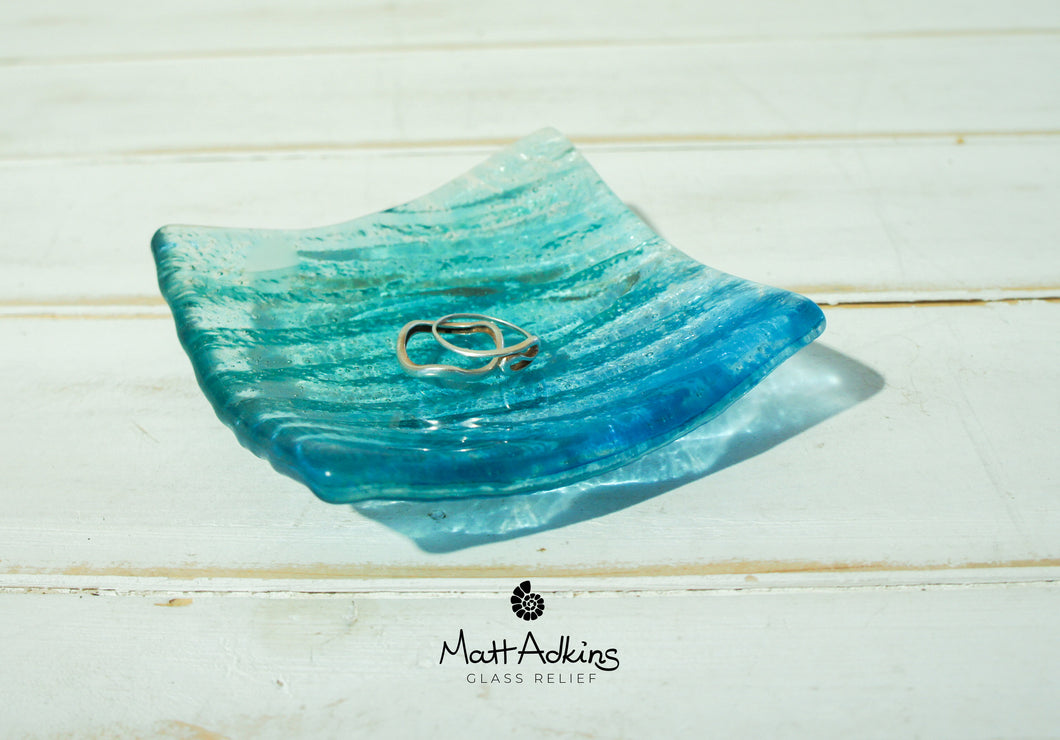Seabed Dish - Blue Turquoise - 10cm(4