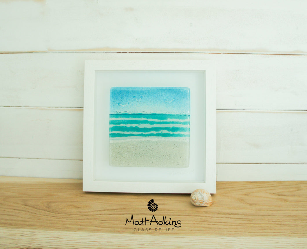 Beach Frame - Small Square - Turquoise - 25x25cm(10