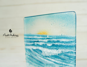 "Rolling Wave Panel Sun - Model 2 D1 - 15cm (6"") on a foot"