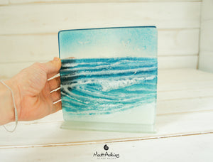 "Rolling Wave Panel - Model 2 D1 - 15cm (6"") on a foot"