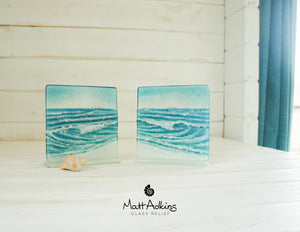 "2 Rolling Wave Panels - Model 2 D1&2 - 15cm(6"") on a foot"