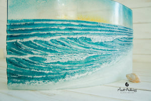 "Wave Panel Curved Sun - Model 5  - 44x26cm(17x10"")"