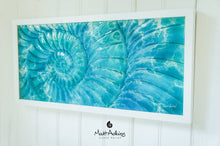 "Load image into Gallery viewer, Ammonite Frame - Large Landscape - Swirl Turquoise Blue - 60x30cm(23x12"")"