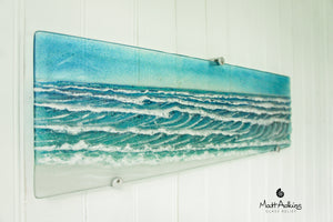 "Panoramic Wave Wall Panel - 68x20cm(27 1/2x8"") with fixings"