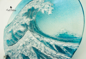 "Crashing Wave Panel - Round - 29cm (11.5"") with fixings"