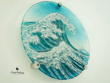"Load image into Gallery viewer, Crashing Wave Panel - Round - 29cm (11.5"") with fixings"