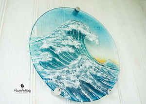 "Crashing Wave Panel Sun - Round - 29cm (11.5"") with fixings"