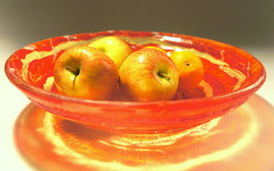 "Red Yellow Fruit Swirl Bowl - 29cm(12"")"