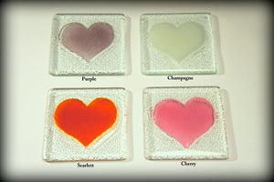 4 Heart  Coasters - Choose your colours