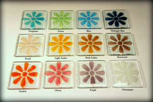 6 Daisy Coasters - Choose your colours