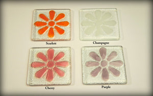 2 Daisy Coasters - Choose your colours