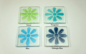 4 Daisy Coasters - Choose your colours
