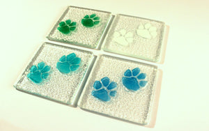 6 Paw Coasters - Choose your colours