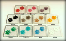 Load image into Gallery viewer, 2 Paw Print Coasters - Choose your colours