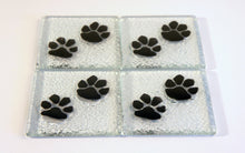 Load image into Gallery viewer, 4 Black Paw Coasters