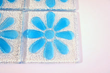 Load image into Gallery viewer, 4 Daisy Blue Coasters