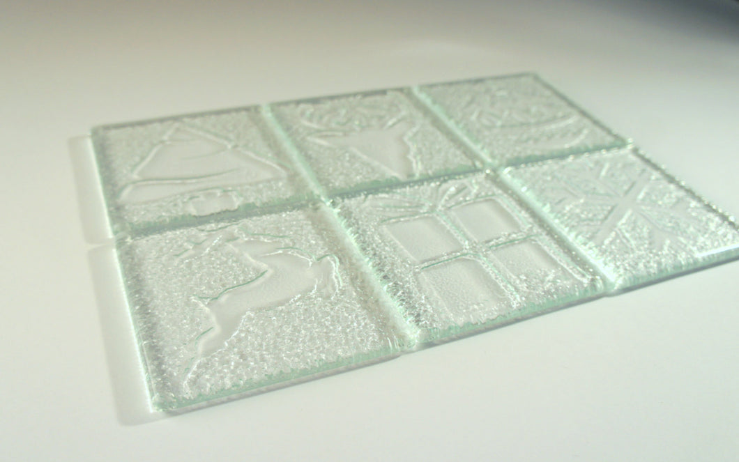 10 Clear Christmas Coasters