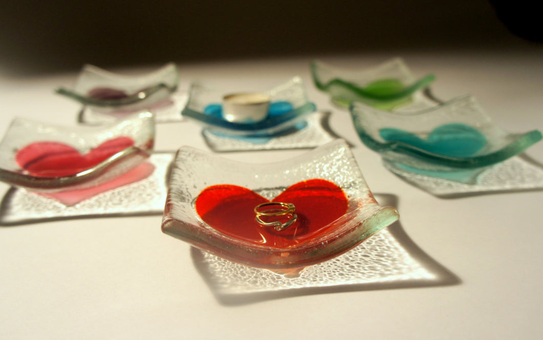Heart Dish - Choose your colour - 10cm(4