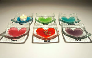 "Heart Dish - Choose your colour - 10cm(4"")"